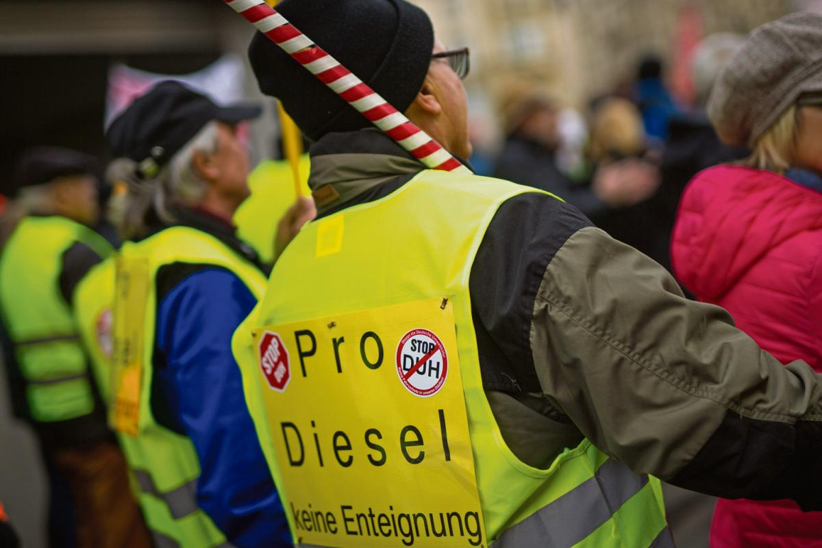 »Diesel-Demonstration«, Stuttgart