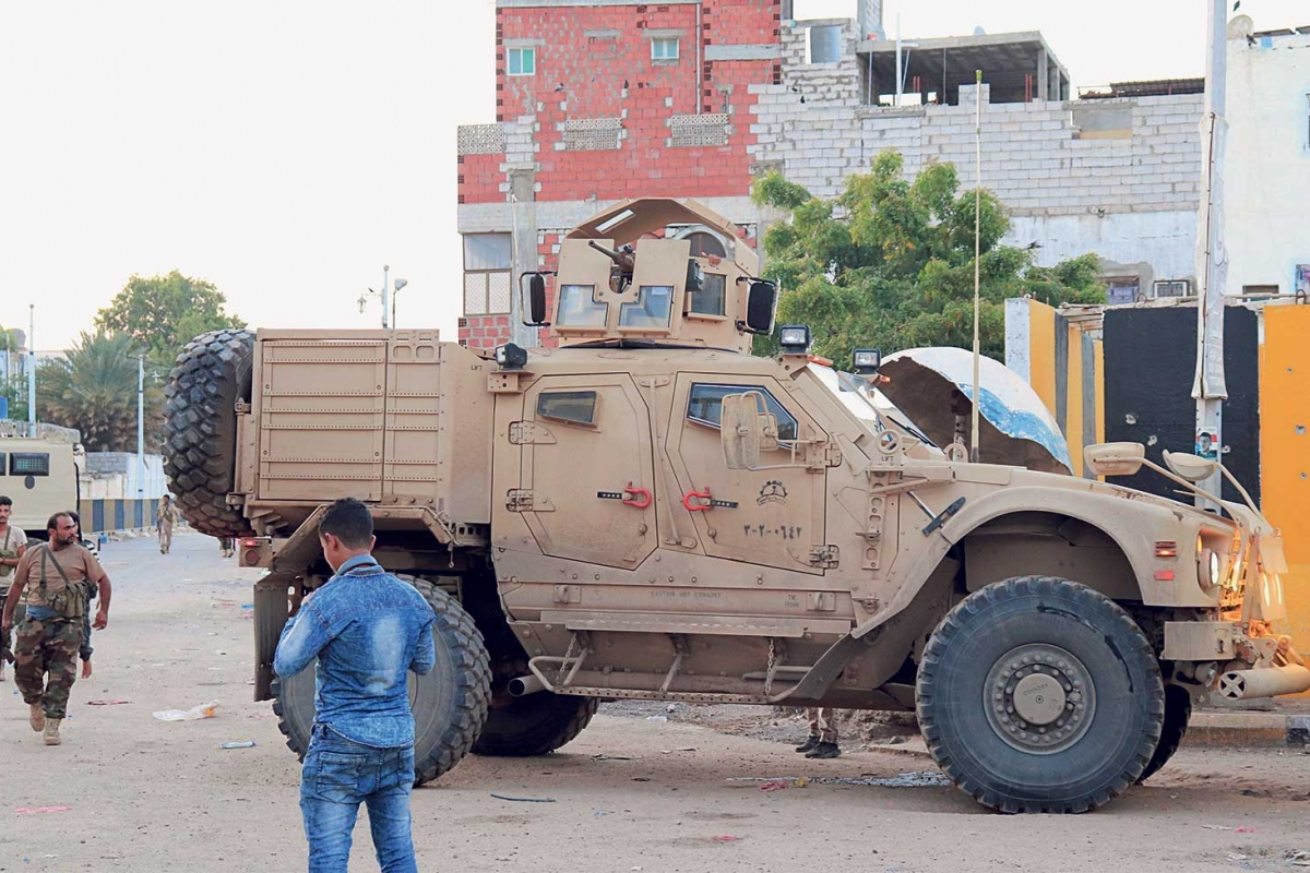 Die Konfusion wächst. Truppen des separatistischen »Southern Transitional Council« in Aden, 26. April