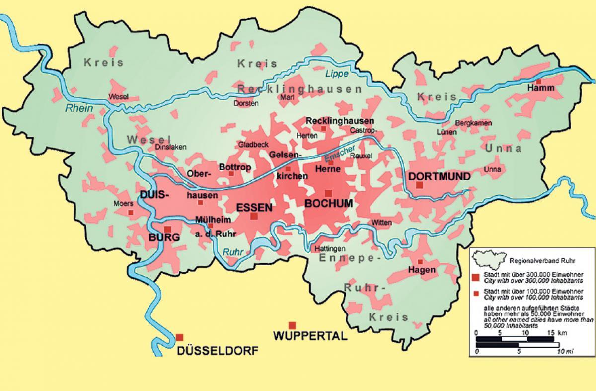Karte Ruhrgebiet.Jungle World Der Braune Rostgürtel