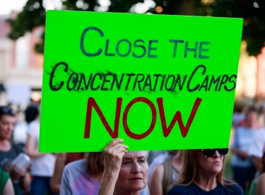 Demonstration gegen Abschiebezentren in Bloomington im US-Staat Indiana im Juli 2019